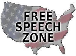 free speech zone map