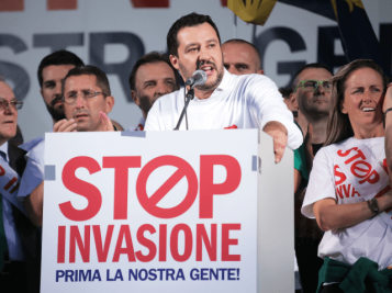 Salvini stop invasion poster