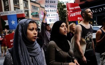 Yemenis protest Trump in NYC
