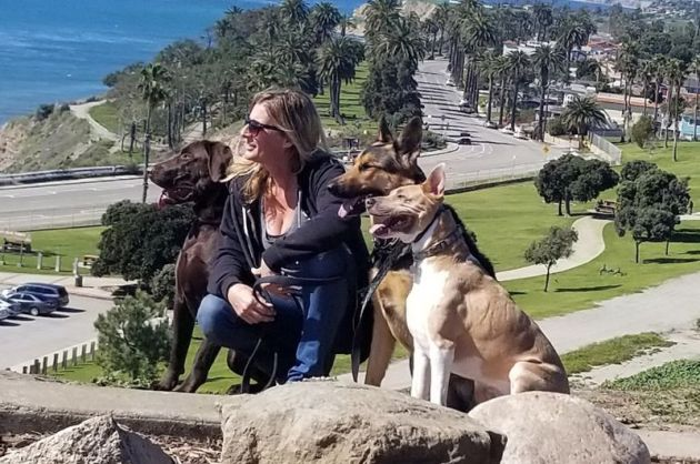 Jessica with dogs
