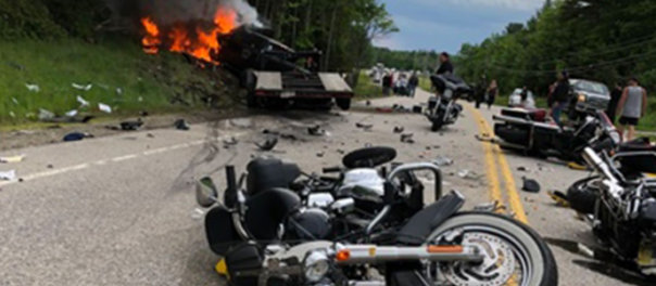 NH motorcycle crash
