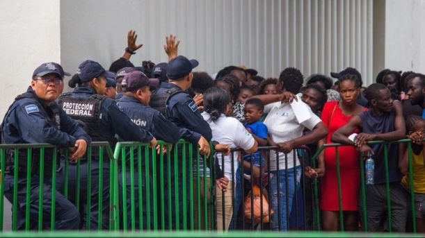 Africans at Mexican border