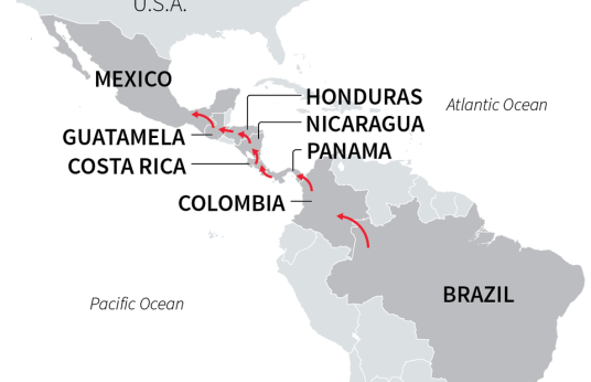 map Brazil to US