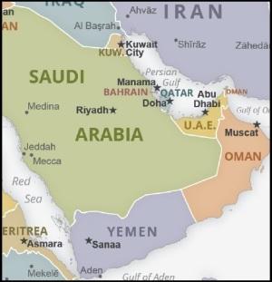 Yemen KSA Iran map border_0